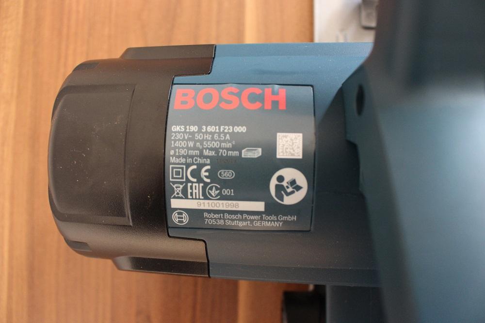 Leistung der Bosch Handkreissäge